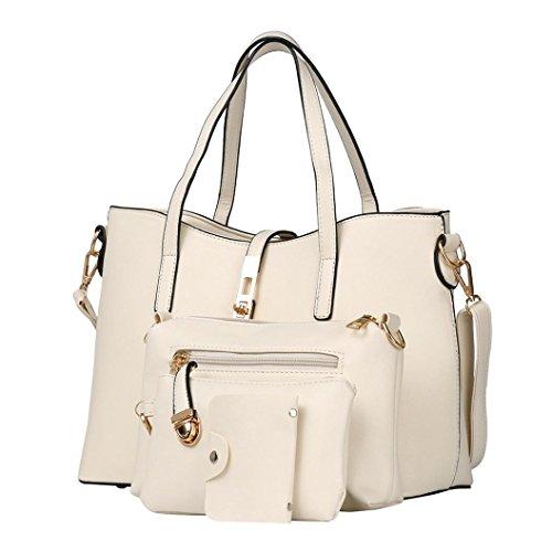 Handbags Casual Shoulder Winwintom Fashion Handbags Women Crossbody Messenger 2018 White Bag Womens Fashion Crad New 4pc Bag wtqnIB