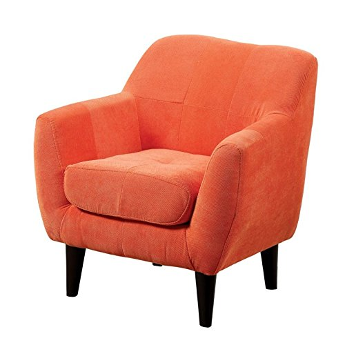 Furniture of America Kasey Upholstered Chair in Orange by Furniture of America