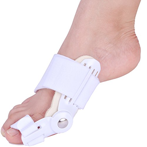 REFAGO 2pcs Adjustable Velcro Bunion Corrector Protector Adjustable Straightener Splint Relieve Hallux Valgus Pain by REFAGO