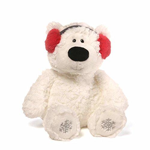 GUND Blizzard Teddy Bear Holiday Stuffed Animal Plush, White, 12