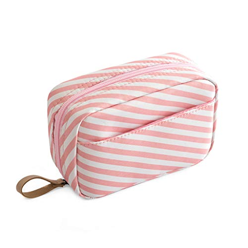 Makeup Bag Travel Cosmetic Bag Toiletry Bag Organizer Pouch Purse Travel Accessories,Pink