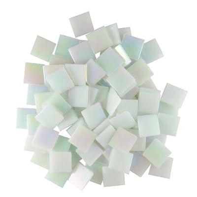Jennifer's Mosaics White 3/4-Inch Iridized Venetian Style Glass Mosaic Tile, 8-Ounce by Diamond Tech International
