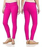 Dinamit Jeans Juniors's Color Skinny Leggings Like Jeans Fuschia 3
