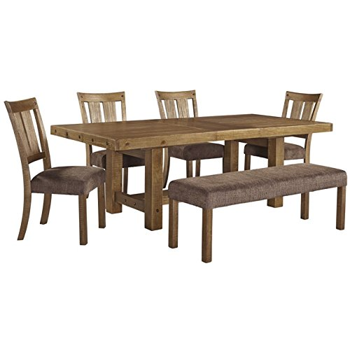 Ashley Tamilo 6 Piece Dining Set in Gray and Brown