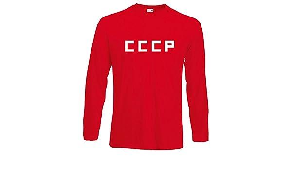 Camiseta de fútbol estilo retro con estampa de CCCP de la Unión Soviética: Amazon.es: Ropa y accesorios