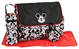 Disney Boys Mickey Mouse Multi Pc Diaper Bag Set, Large, Black