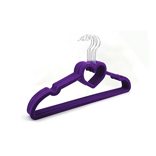 Zebratown 10 Pack Scarf Shawl Hangers Velvet Hangers Clothes Hanger Ultra Thin No Slip (Purple)