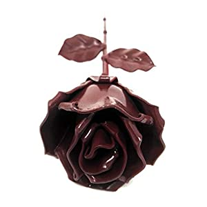 "♥ Eternal Rose Hand-Forged Wrought Iron Red""Ideal gift Valentine's Day, Girlfriend, Mother's Day, Couple, Birthday, Christmas, Wedding Day, Anniversary Gift, Decor, Indoor"" 4"