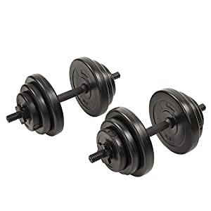 Well-Being-Matters 41tkO0Q2XAL._SS300_ Sunny Health & Fitness Exercise Vinyl 40 Lb Dumbbell Set Hand Weights for Strength Training, Weight Loss, Workout Bench…