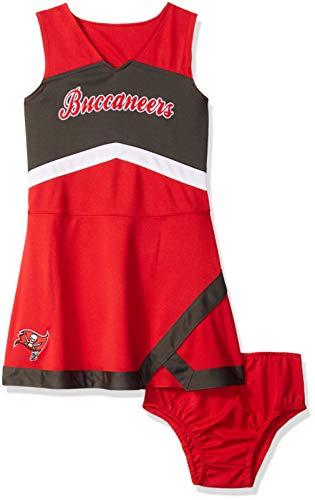 Outerstuff NFL NFL Tampa Bay Buccaneers Kids & Youth Girls Cheer Captain Jumper Dress Red, Kids Medium(5-6)