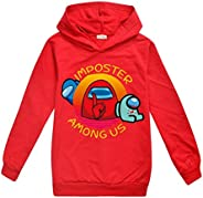 Among Us Funny Print Sweater Childrens Pullover Long Sleeve Thin Hoodies