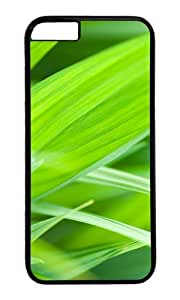 The green leaves of grass PC Black Hard Case for Apple iPhone 6(4.7 inch)