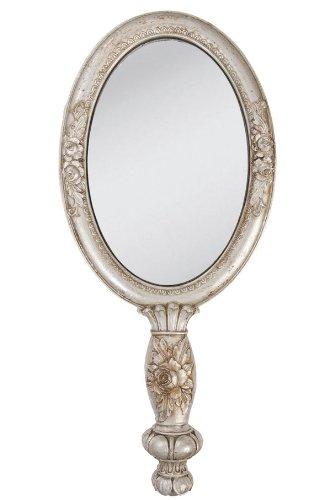 Clayre & Eef 62S007 Großer Spiegel Friseurspiegel Handspiegel 27 Zentimeter Matt Bronze Farben Nostalgie Vintage Shabby Chic