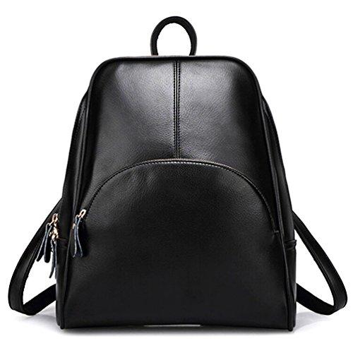 Ladies Black Backpack Purse - 2