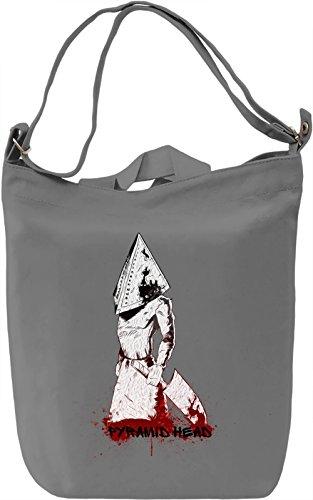Pyramid Head Borsa Giornaliera Canvas Canvas Day Bag| 100% Premium Cotton Canvas| DTG Printing|