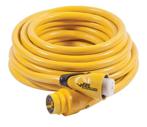 (Marinco EEL 50-Amp 125/250-Volt Cord Set, Yellow,)