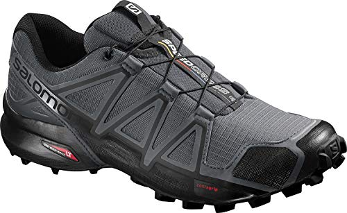 SALOMON Speedcross 4 Trail Running Shoes Dark Cloud/Black/Pearl Grey Mens Sz 10 (Best Way To Clean Athletic Shoes)
