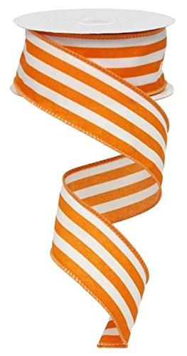 (Vertical Stripe Wired Edge Ribbon (1.5