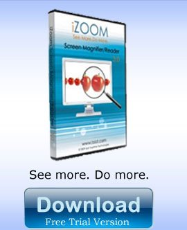 iZoom Magnifier/Reader - Magnifying Software English USB by MAGNIFYING AIDS