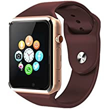 aimion Bluetooth Smartwatch,Smart Watch Unlocked Watch Phone can Call and Text with Touchscreen Camera Notification Sync for Android SumSung Huawei(Gold)