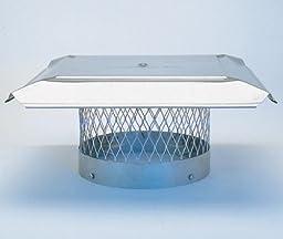 Homesaver 10355 12 Inch HomeSaver Pro Stainless Steel Round Chimney Cap 3/4 Inch Mesh