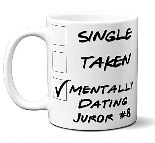 """Funny""""Juror #8"""" Novelty Movie Lover Gift Mug. Single, Taken. Poster, Men, Women, Birthday, Christmas, Father"""