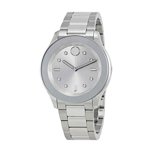Movado Women's Swiss-Quartz Watch with Stainless-Steel Strap, Silver, 19 (Model: 3600415)
