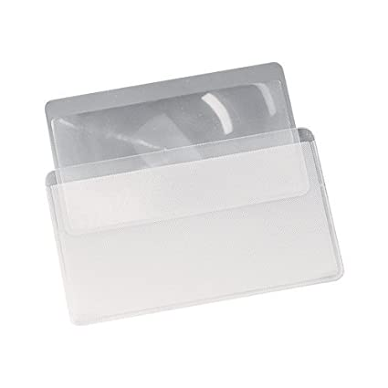 ebuygb 1212022 Mini tarjeta de Crédito Lupa lectura lente de Fresnel