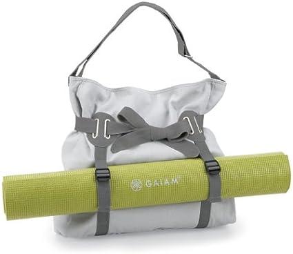 Amazon.com : Gaiam Beau Mat Tote (Gray) : Yoga Mat Bags ...