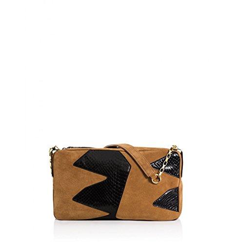 Tamara Mellon Playboy III Shoulder Bag, Black/Hazel