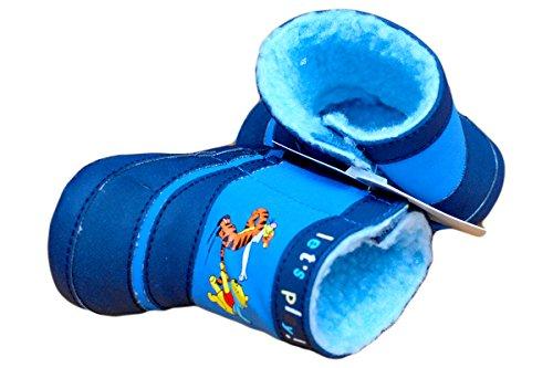 Knaben Winterschuhe. Jungen Winter-Stiefel mit rutschfester Sohle. Farbe Blau