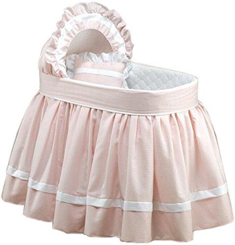 Baby DollBedding Regal Pique Bassinet Set, Pink by BabyDoll Bedding