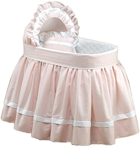 Baby DollBedding   Regal Pique Bassinet Set, Pink