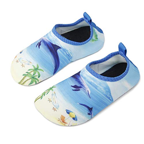 Boys Girls Swimming Water Shoes Kid Aqua Barefoot Sock Toddler//Little Kid//Big Kid