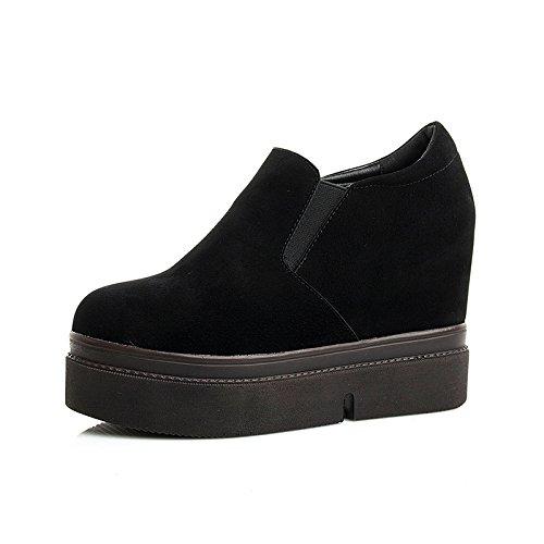 KHSKX-Plateauschuhe Einzelne Schuhe Tiefe Plateauschuhe Frühjahr Schuhe Mode Setzt Fußpedal Thirty-seven