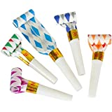 Bulk Toys Party Pack of 36 Musical Blow Outs, Birthday Party Favors, New Years Party Noisemakers 36 Party Blowouts Whistles, Party Blowouts, Fun Party Favors, Goody Bag Stuffers, Assorted Colors