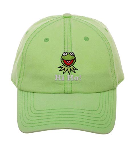 Disney The Muppets Hi Ho Embroidered Kermit The Frog Green Baseball Hat Dad Cap
