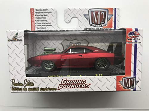 (M2 Machines Ground Pounders 1969 Dodge Charger Daytona 1/64 R13 14-07 Red Details Like NO Other! Over 34 Parts 1 of 5000)