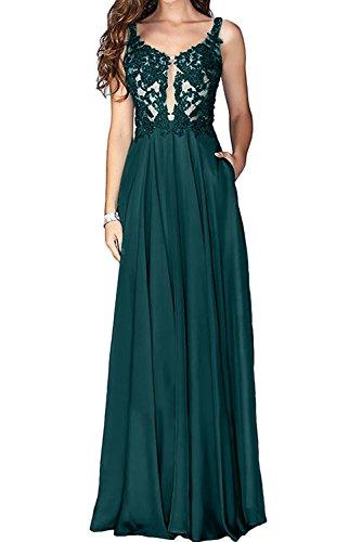 Abschlussballkleider La mia Promkleider Abendkleider Spitze Gruen Langes Festlichkleider Blau Brautmutterkleider Braut Rosa Linie A C86qrnwC