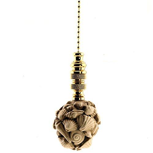 Shell Ceiling Fan Pull - 12 Inch chain + 3.25 Inch ornament ()