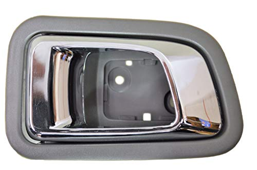 - PT Auto Warehouse HO-2701MG-RL - Interior Inner Inside Door Handle, Chrome Lever with Gray Housing - Rear Left Driver Side