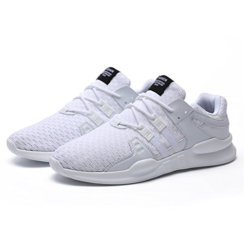 Lger Mesh Athltique Sneakers Pour Hommes Chaussures Casual Baskets Gym Sport Running Lacets Blanc Ziitop Xqw4q