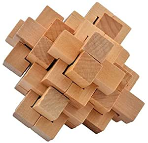 WOODEN PUZZLE - KONG MING 24 LOCKS - TRADITIONAL CHINESE BRAIN TEASERS