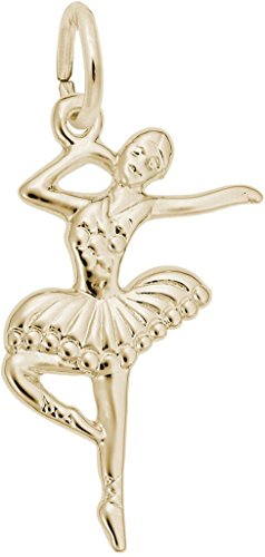 Rembrandt Charms Yellow Gold Ballet Dancer with Tutu Charm ()