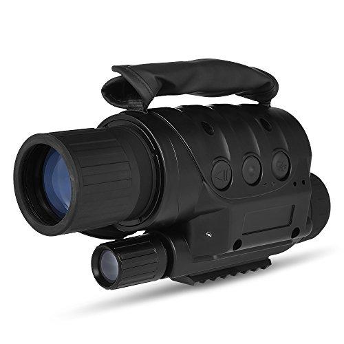 Lixada 8x60 Digital Night Vision Monocular Telescope Infrared Device Photo Video Recorder for Camping Hiking Travel Hunting by Lixada