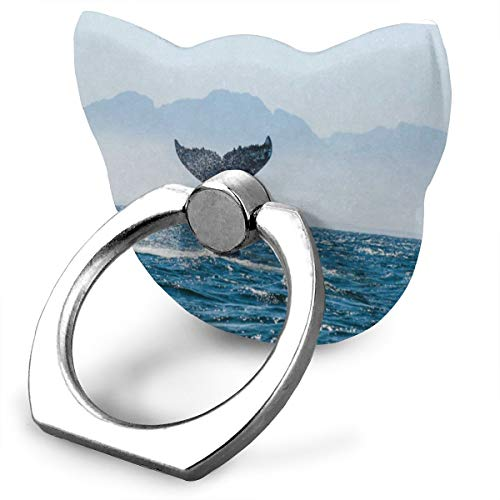Phone Stand Whale Tail Cat Type Ring Mobile Phone Holder Adjustable 360° Rotation Finger Cat Type Ring Stand for IPad Phone X/6/6s/7/8/8 Plus/7, Galaxy S9/S9 Plus/S8/S7 Android ()