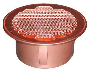 Round Copper Vent - 4-1/2'' (80mm) Diameter