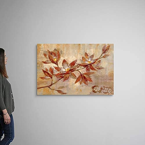 Copper Branch Canvas Wall Art Print
