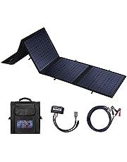 BETOP-CAMP 100W Opvouwbare Solar Panel Charger Kit Draagbare Monokristallijn Zonnepaneel met USB-poorten & DV-poort voor Power Station, USB-apparaten, Auto, Boot, Camper, Mobiele Telefoon, Laptop (zwart)