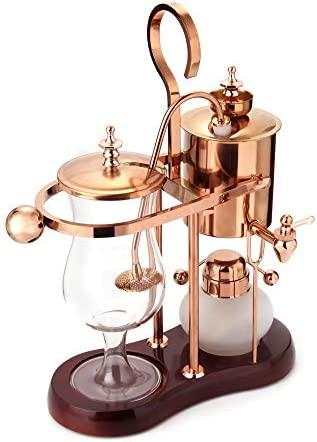 Diguo Belgian Belgium Luxury Royal Family Balance Syphon Coffee Maker. Elegant Design Retro-Style Polished Rose Gold